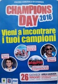 SPORT D'ACQUA: CHE FESTA IL CHAMPIONS DAY!